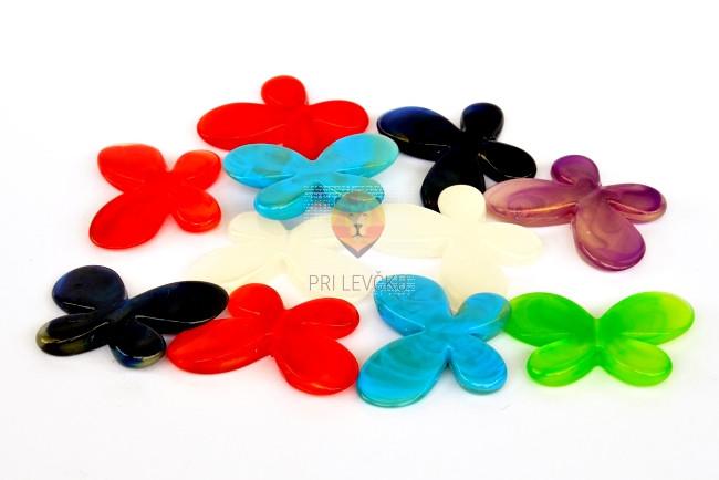 Perle akrilne mix 17 metuljčki 4,3cm 50g