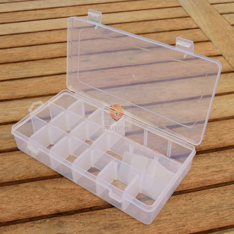 Plastična škatla za shranjevanje in sortiranje