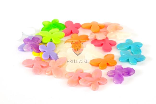 Perle akrilne mix 15 metuljčki 3cm 50g
