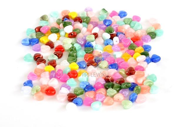 Perlice akrilne mix 10 srček mali 40g