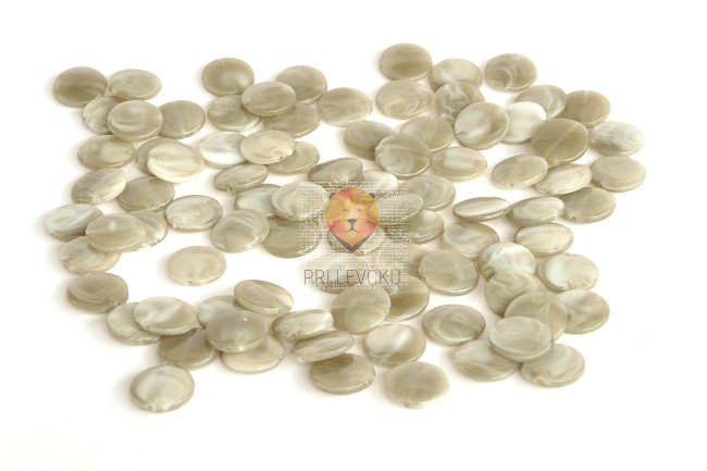 Perle akrilne mix 1, sive barve, okrogle ploščate oblike 50g