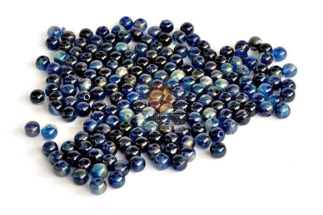 Perle akrilne mix 23, okrogle, temno modre barve 8mm 50g