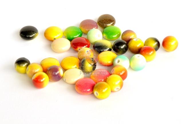 Perle akrilne mix 56, različne oblike in velikosti, M&M, 50g
