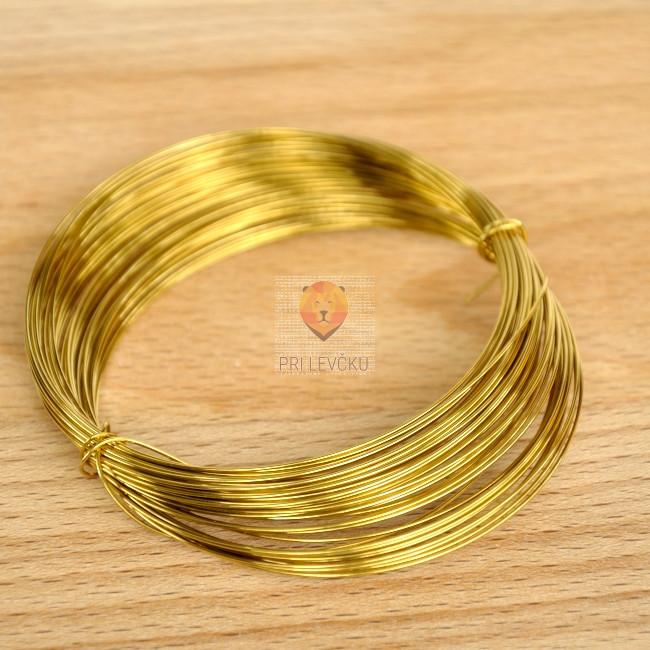 Žica zlate barve 0,60 mm