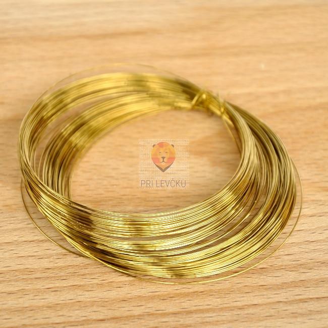Žica zlate barve 0,40 mm