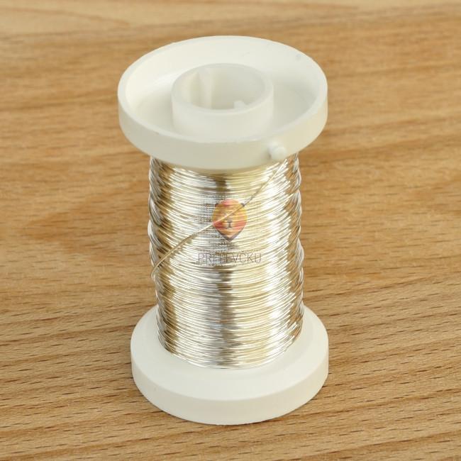 Žica srebrne barve 0,40 mm