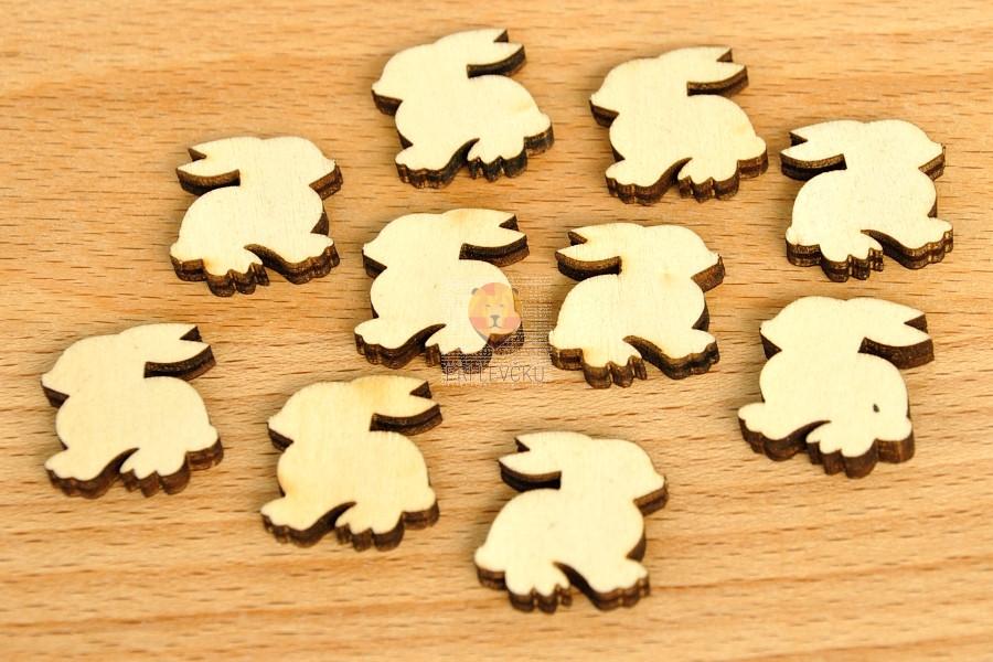 Leseni zajčki naravni 10 kosov