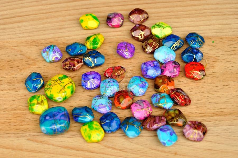 Perle akrilne mix BATIK 50g