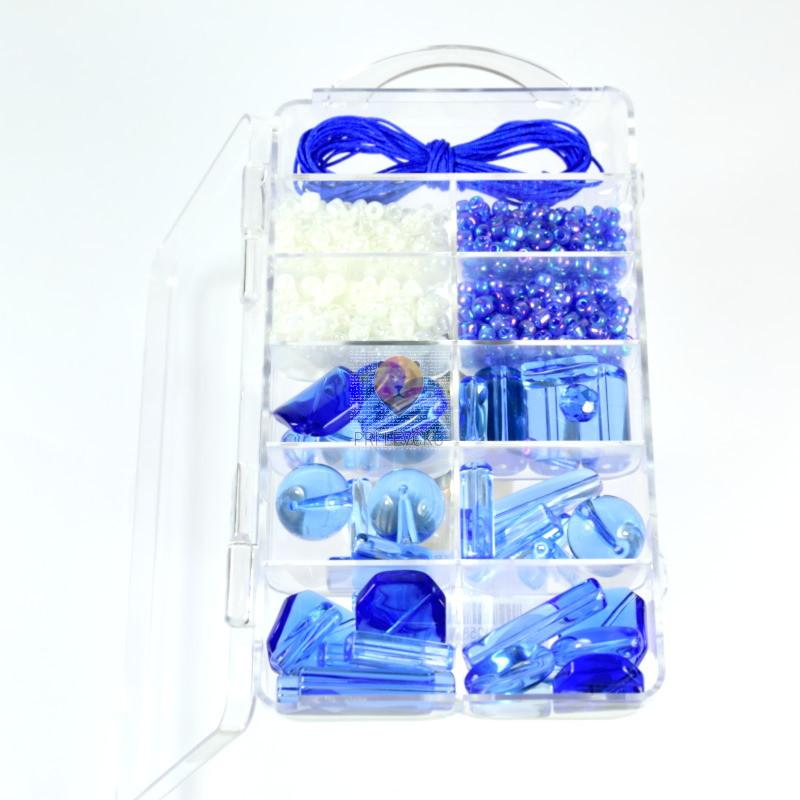 Set za izdelavo ogrlice - modri miks