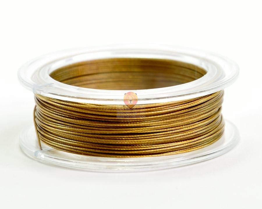 Najlonska žica zlate barve 0,5 mm x 10 m