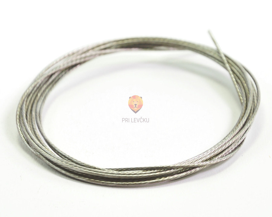 Najlonska žica srebrne barve 0,8 mm x 2 m