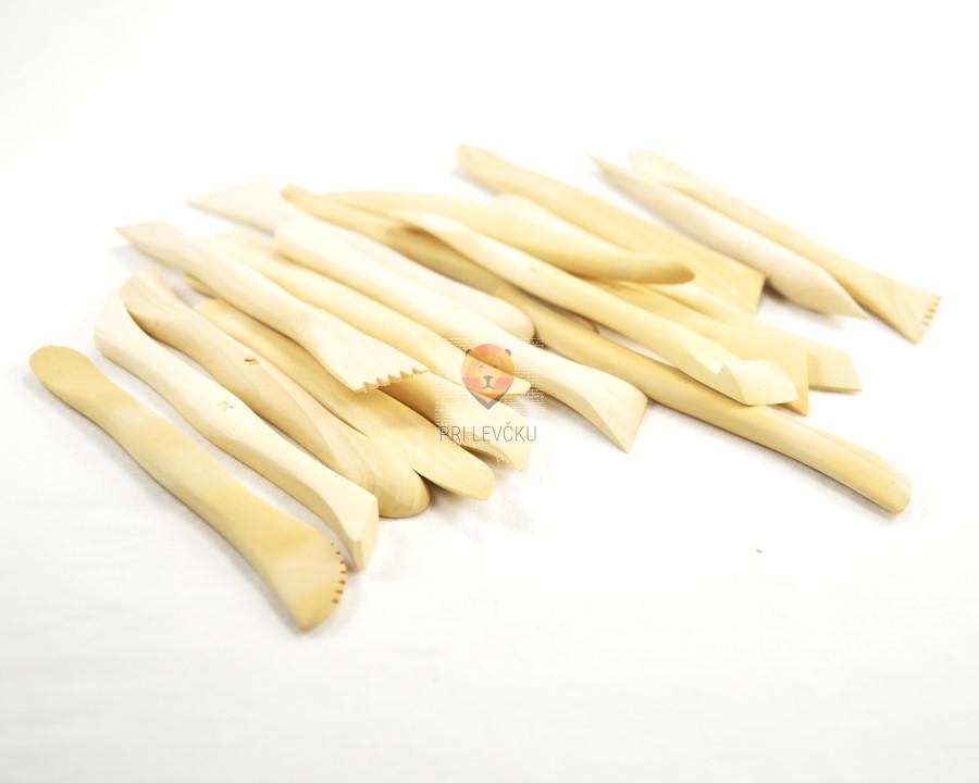 Modelirke lesene 15 cm set 18 kosov