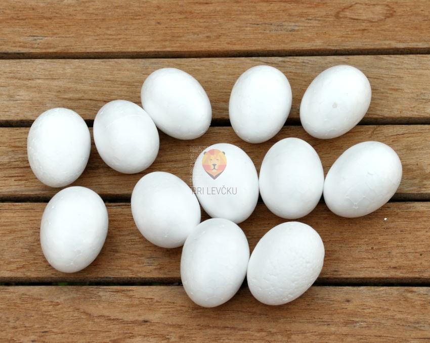 Jajca iz stiroporja 6 cm 12 kosov