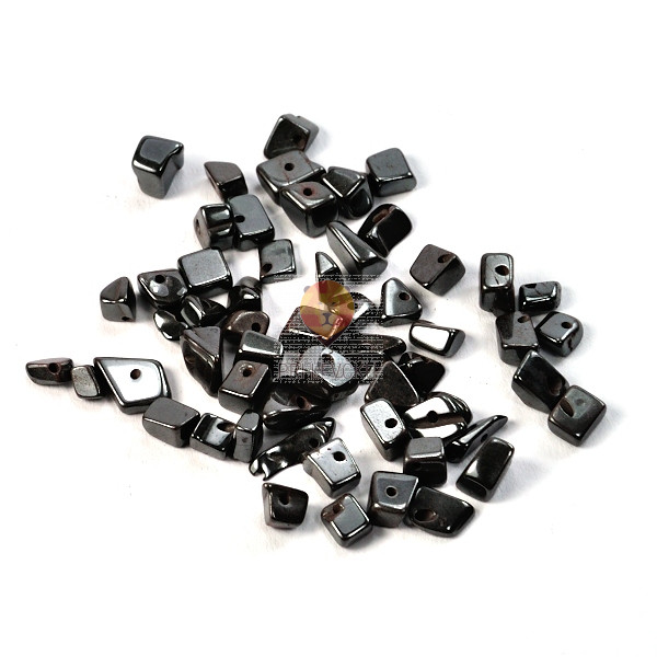 Perle poldragi kamni - lomljenci, hematit 22g