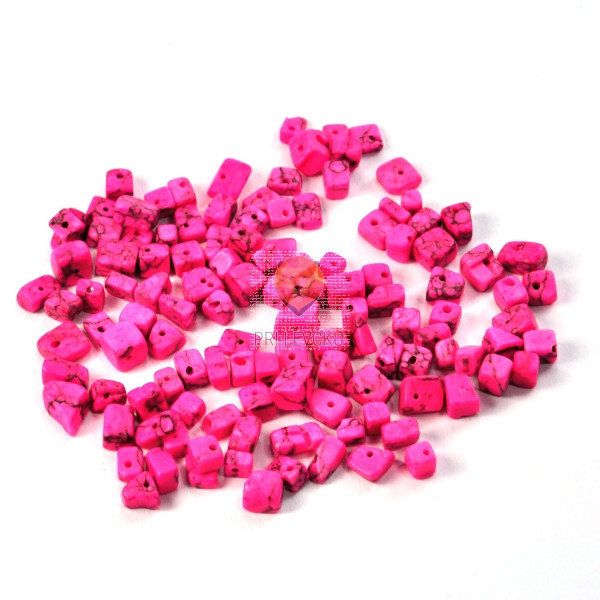 Perle naravni kamni barvani roza 18g