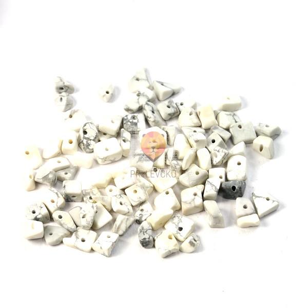 Perle poldragi kamni - lomljenci, howlit 18g