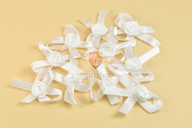 Vrtnica s pentljo bele 10 kosov