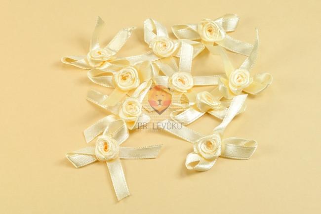 Vrtnica s pentljo 10 kosov smetana