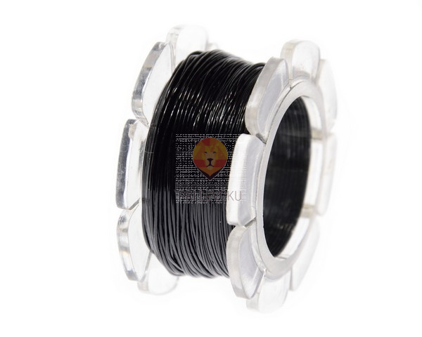 Laks elastičen črn, 0,6 mm x 10 m