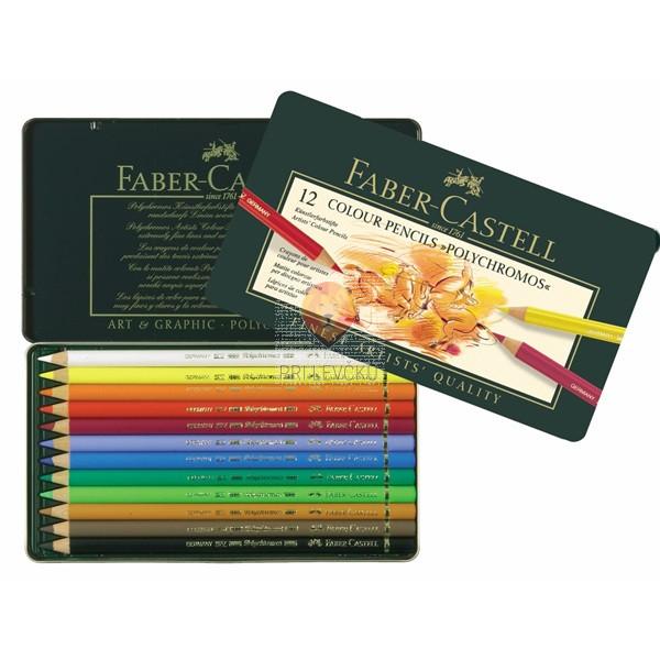 Umetniške barvice Polychromos Faber-Castell 12 kosov