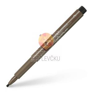 Pigmentiran tuš Calligraphy rjav Faber-Castell Pitt Artist Pen