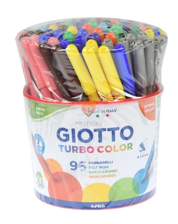 Flomastri Giotto Turbo color v lončku 96 kosov