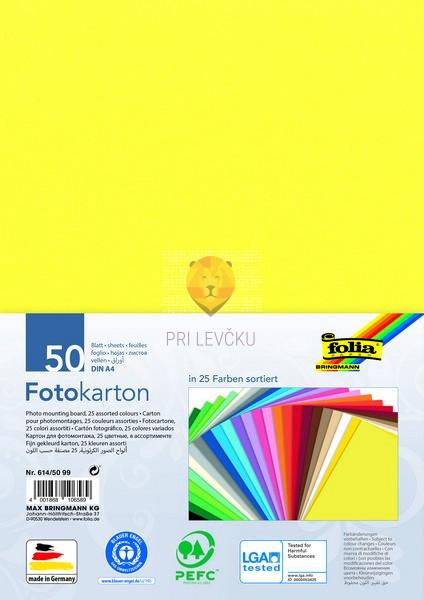 Tonkarton barvni karton formata A4 300 g/m2 različne barve 50 listov