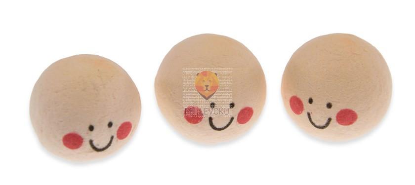 Vatne kroglice z obrazom kožne barve 2,5cm 3 kosi