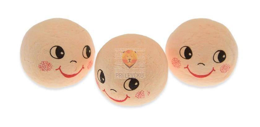 Vatne kroglice z obrazom, kožne barve, 3 cm, 3 kos