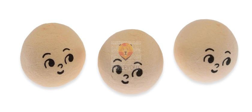 Vatne kroglice z izrazitejšim obrazom, kožne barve, 2,5 cm, 3 kos