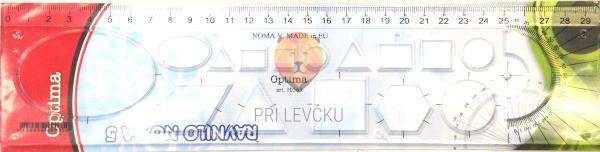 Ravnilo - 30cm z geometrijskimi liki