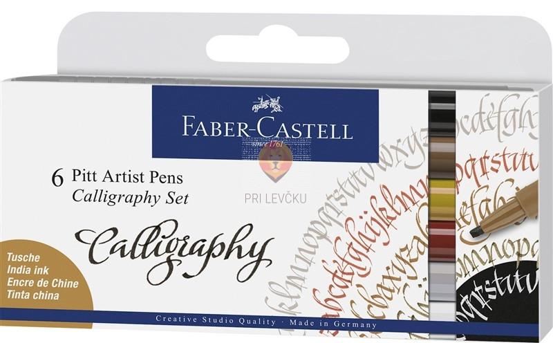 Kaligrafski komplet Pitt Artist Pen 6 kosov Faber-Castell
