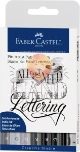 Pigmentiran tuš Kaligrafski Hand Lettering Set Faber-Castell Pitt Artist Pen 8/1