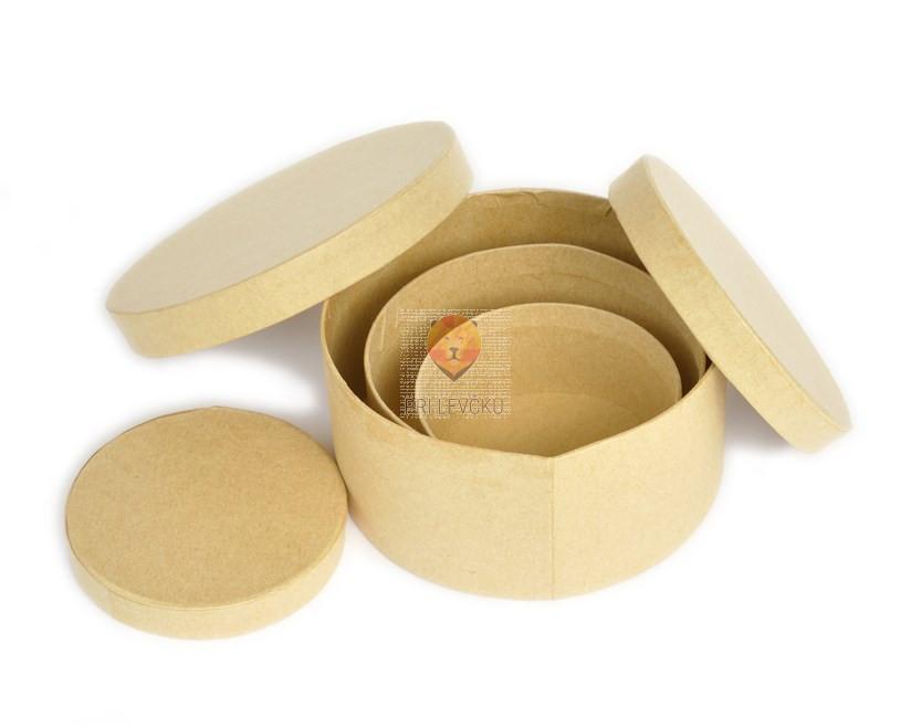 Kartonasta škatla mali set-okrogla