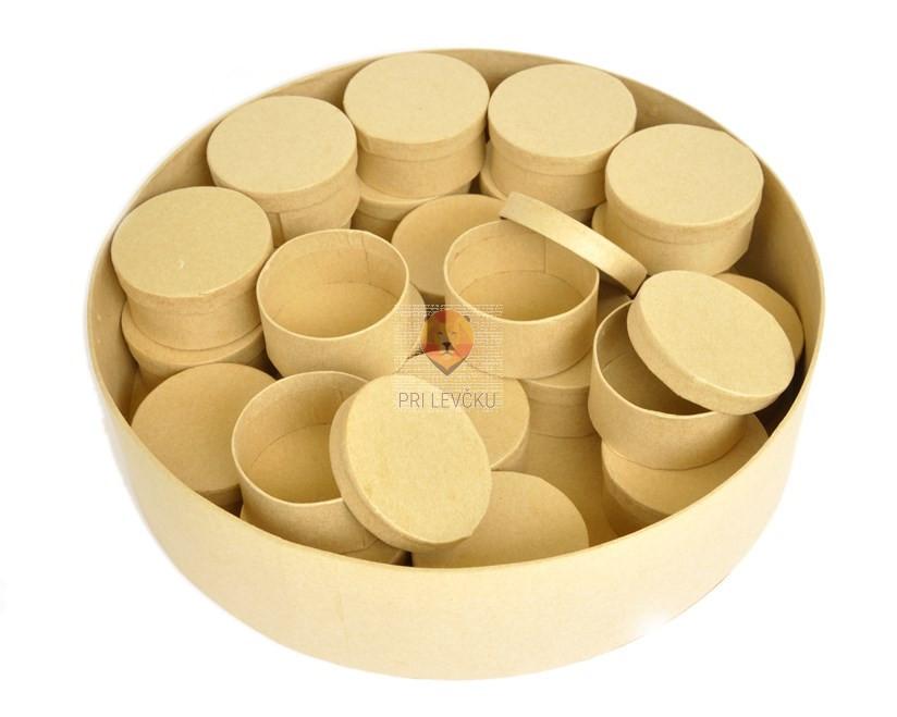 Kartonasta škatla set okrogla