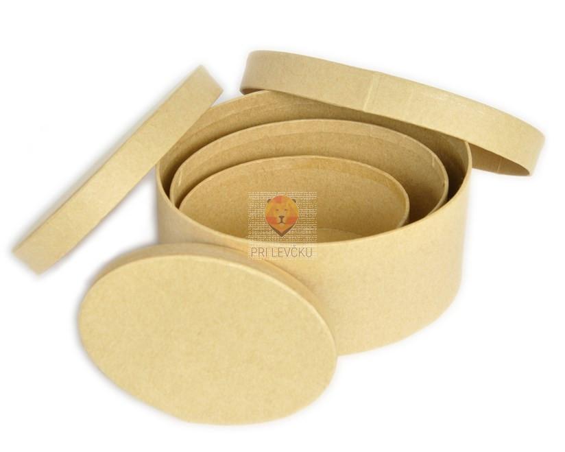 Kartonasta škatla mali set-ovalna
