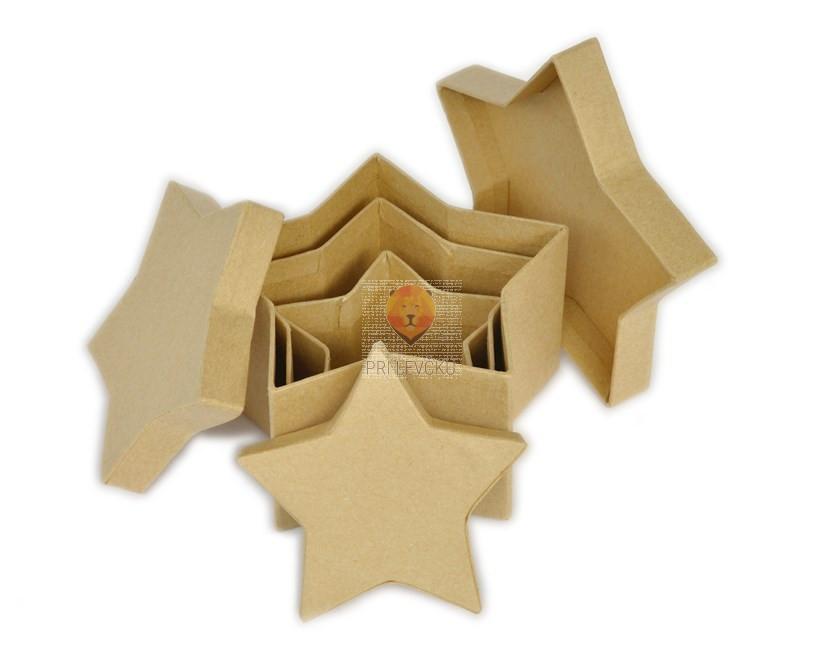 Kartonasta škatla mali set-zvezda