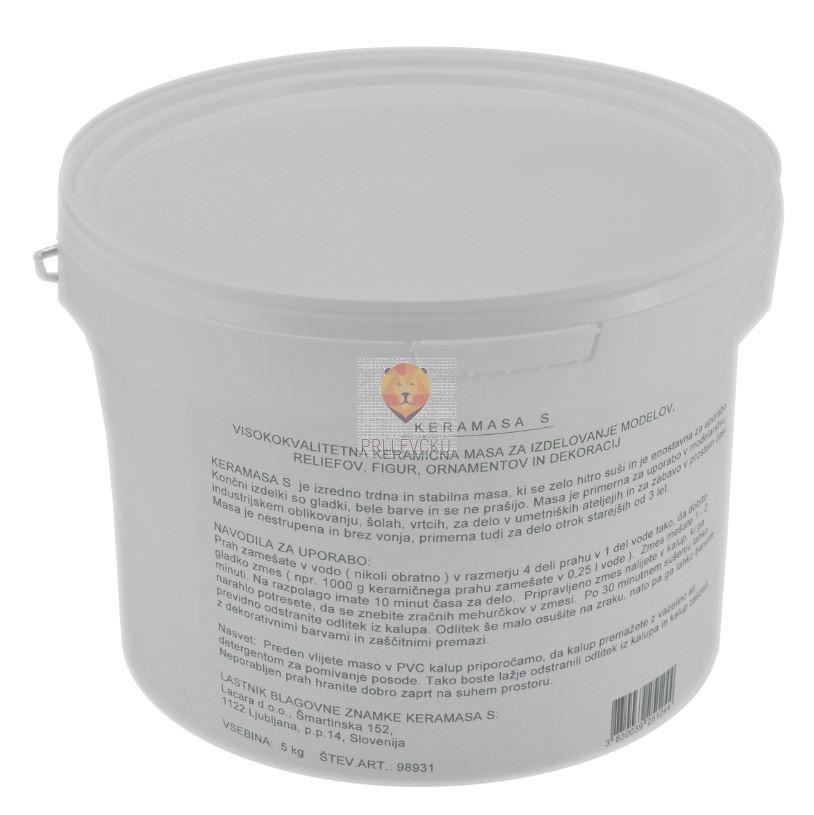 Keramasa 25kg keramična masa za vlivanje v kalupe