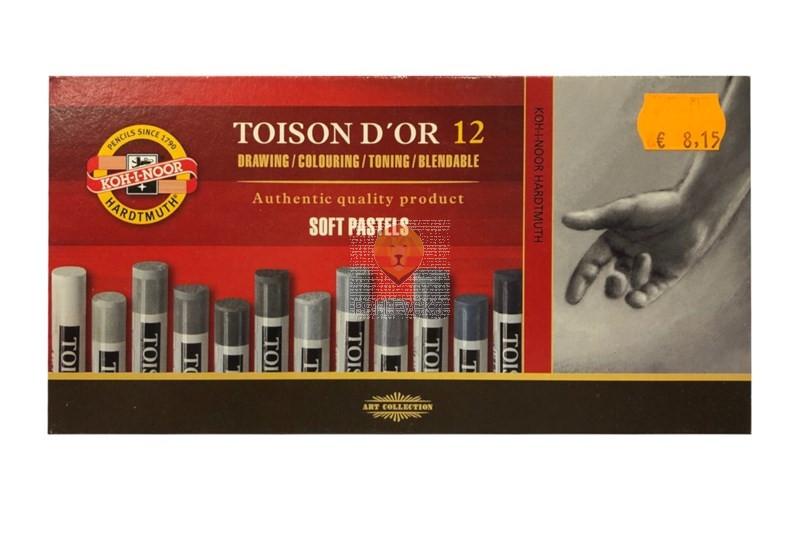 Mehki suhi pasteli Toison D'or sivi odtenki 12/1