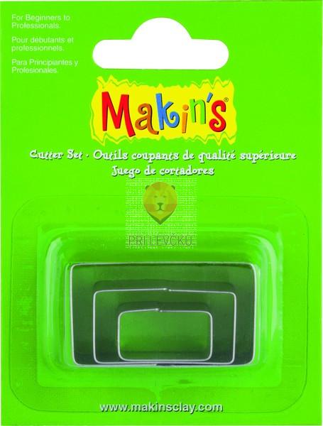 Kovinski modelčki za izrezovanje, 3 kosi 3 različne velikosti - Pravokotnik