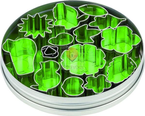 Set kovinski modelčki za izrezovanje Rožice in listki 15 kosov