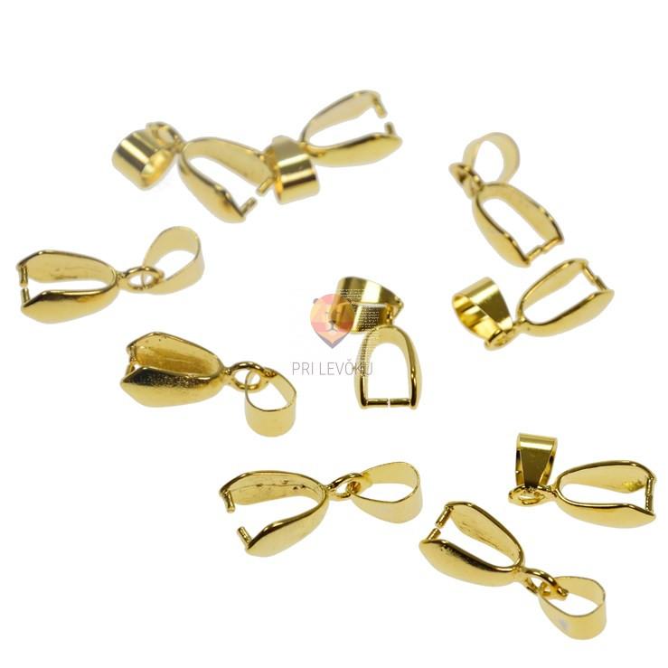 Kovinski obesek 10 mm, zlate barve, 10 kos