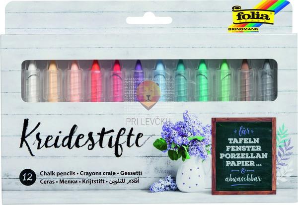 Kredni barvni svinčniki 12 kosov