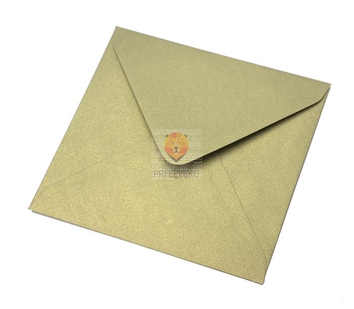 Kuverta 135x135mm iz bisernega papirja zlata 1 kos