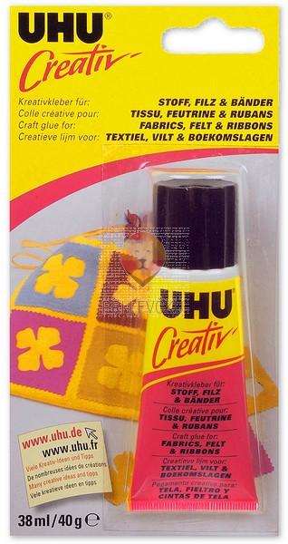 UHU CREATIV FILZ lepilo za tekstil, filc in trakove 38 ml