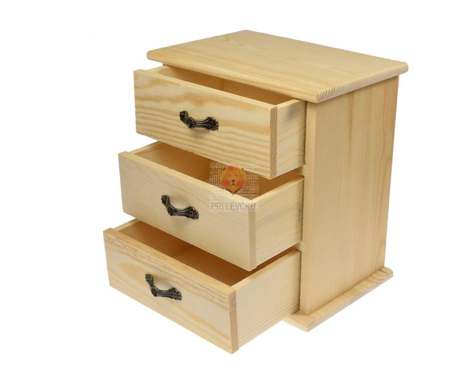 Leseni predalnik 17,5 x 16 x 10,5 cm