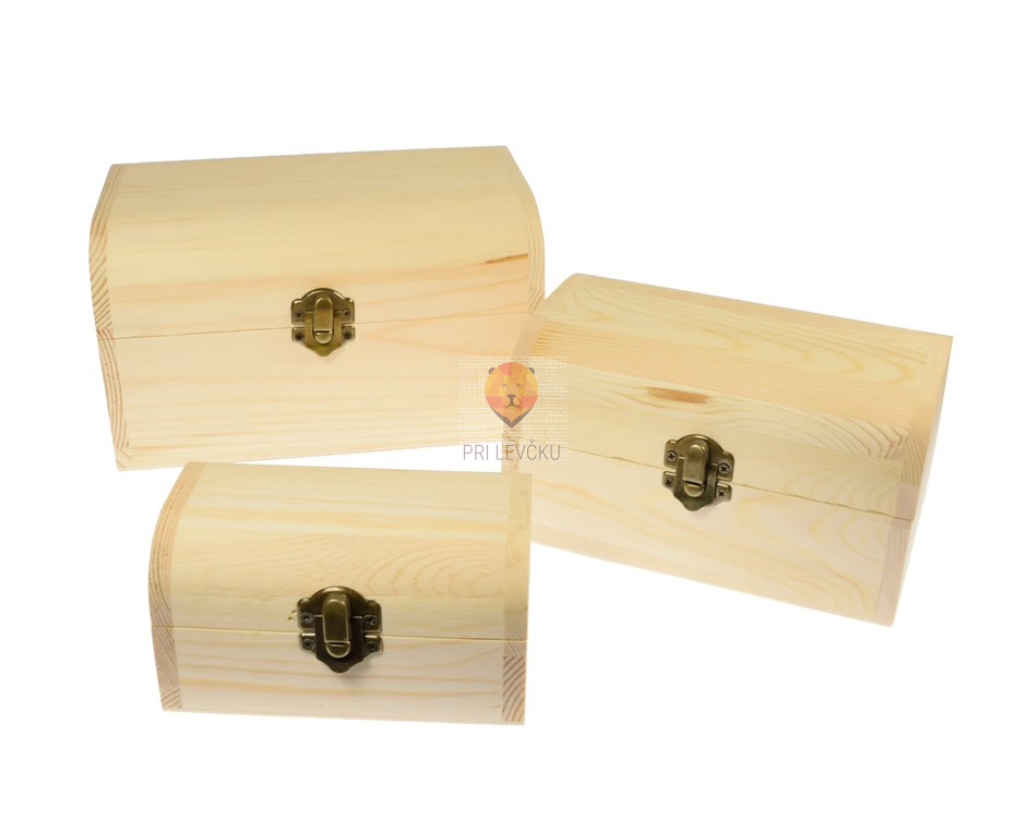 Lesene škatlice skrinja 3 kosi