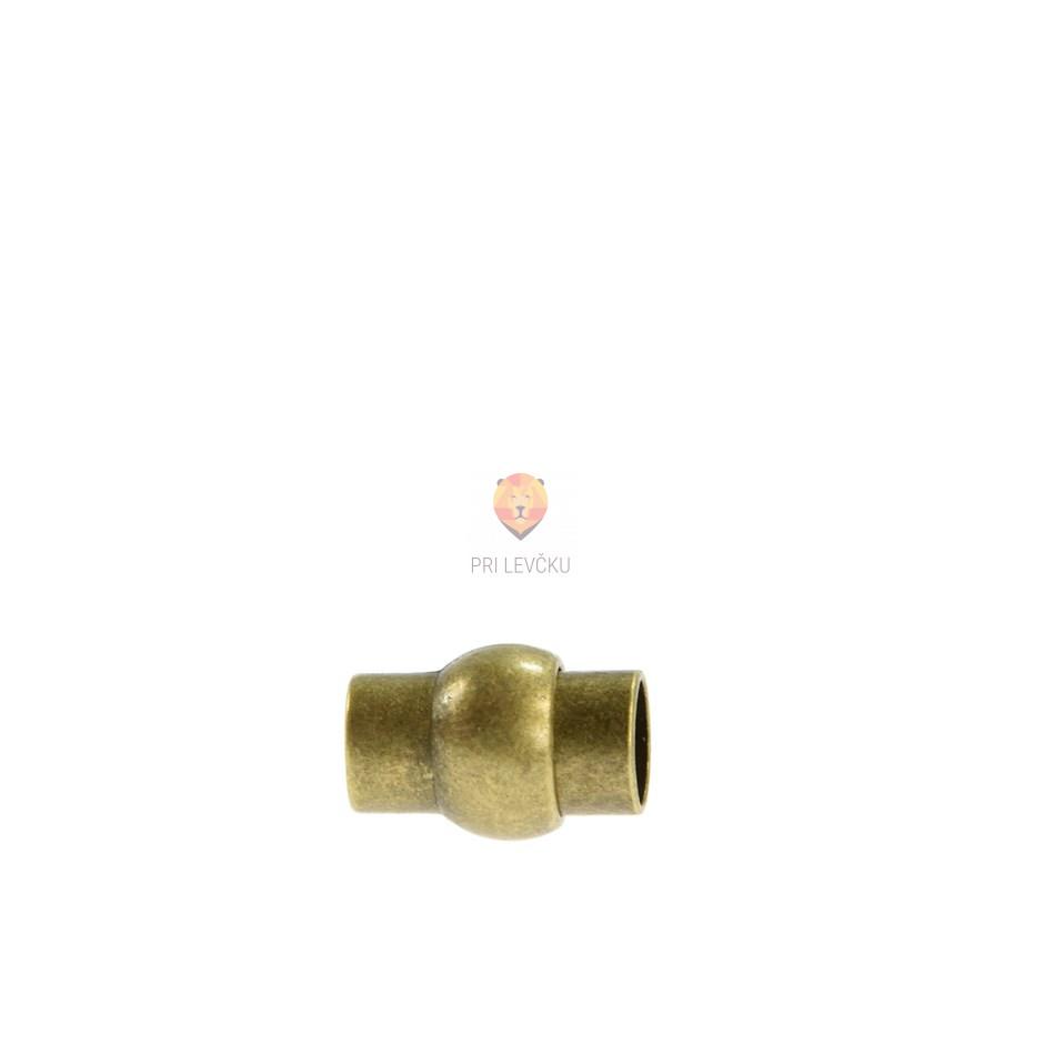 Magnetni zaključek 16 x 11 mm, barva starega zlata, 1 kos