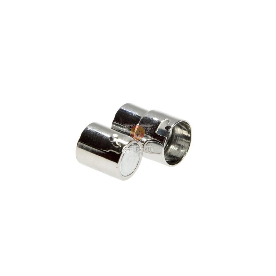 Magnetni zaključek 17 x 10 mm, platinaste barve, 1 kos
