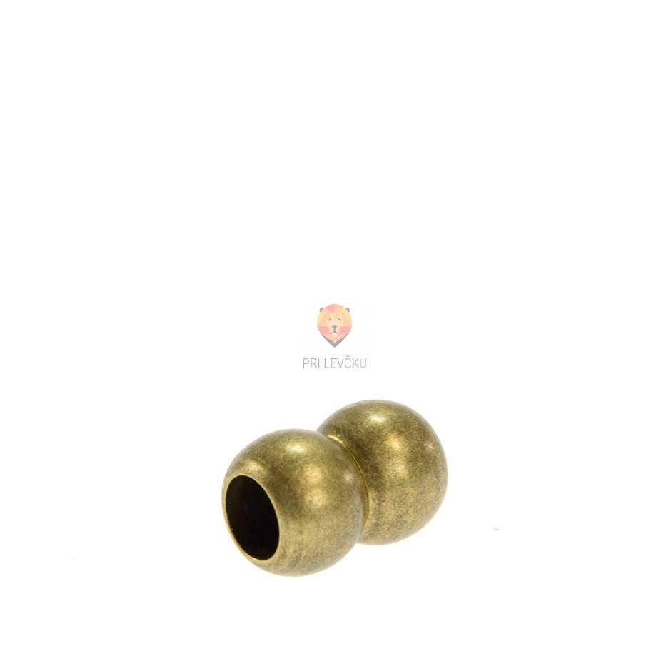 Magnetni zaključek 17 x 12 mm, barva starega zlata, 1 kos
